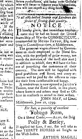 Middlesex Gazettet, Middletown, CT - 28th June 1799
